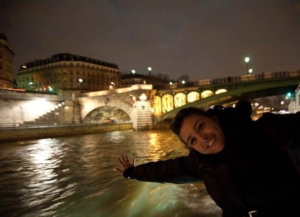 Clara en el crucero fluvial